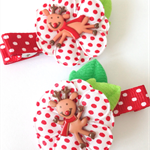 Dancing Prancing Rudolf Christmas Hair clips