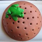 Mosquito Coil Holder with built in stand, Frog Design