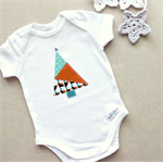1st christmas tree   baby onesie