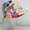 Boys summer hat in bright animal fabric