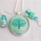 Friendship Quote Set, pendant and earrings