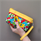 Lucky Dip Clutch:  Bright Floral with Geometric Trim