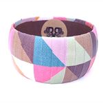 Paper Covered Wooden Bangle - Geometric Pattern