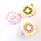 Felt Flower Clip - You Choose 1 Colour - Peach Pink Yellow Gold Glitter