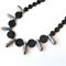 Spike Onyx and Pyrite necklace by Sasha + Max Studio