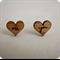 Love heart studs earrings - Eco friendly wood