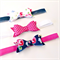 Fabric Bow Headband Set - Sugar Flower - Navy Fuchsia White - Polka Dot - Floral