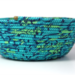 Coiled fabric basket