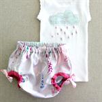 raindrops & whimsy | baby bloomers | raincloud singlet