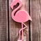 Laser cut pink flamingo brooch