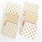 Gold Glitter Coasters - 6 Ceramic Tile Drink Coasters Chevron Spots Circles