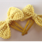Set of 2 Bow Hair Clips - Yellow