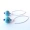 Orbit blue sterling silver drop earrings