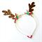 Reindeer Antlers Headband - Glitter - Red Green Brown - Christmas