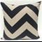 Black and Beige Large Chevron Zig Zag Print Cushion -Retro Cushions - Industrial