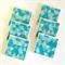 Aqua Triangle Coasters - 6 Ceramic Tile Drink Coasters Geometric Triangles Mint