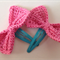 Set of 2 Bow Hair Clips - Pink
