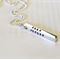 Personalised Rectangle Bar Four Sided Bar Hand Stamped Name Date Necklace