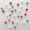 Felt Ball Garland Christmas in Red, Green, White