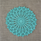 Crochet doily, teal green, seafoam, teacher's gift, free postage