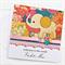 Baby Personalised card elephant girl newborn granddaughter keepsake custom