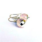 Rose Quartz & Sterling Silver Earrings