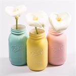 Set of Three 'Ball' Mason Vases- Made to order