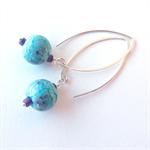 Orbit blue sterling silver earrings by Sasha+Max Studio