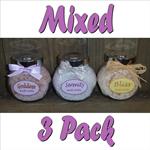 3 Mixed Jars of Bath Salts