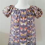 "Girls Gypsy Smock Peasant Style Dress SIZE  1-3 Butterflies ""Harmony"""