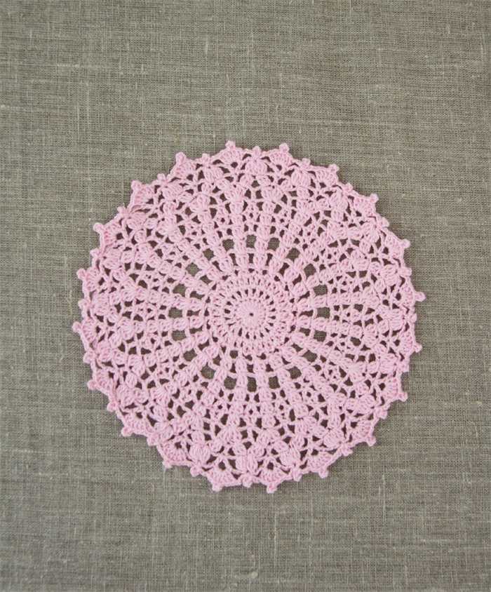 Crochet Doily Large In Ferry Floss Pink Free Postage Plushka