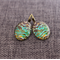 Indo~ Oval Lever Back Earrings