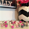 Felt Ball Garland in Pink, Light Pink, White, Taupe & Grey