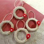 Mini xmas wreaths for tree