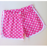 Girls 'Love Heart' Racer Shorts - Custom Made - 12M to Size 5