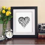 Art Print: My Textured Heart 8x10 inches