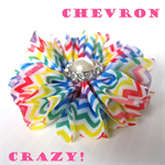 FREE Rainbow Chevron Flower Clip (only added with an order of $10.00 or more)