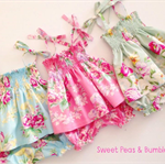 Size 12-18mths Boo! Designs Shirred Top with matching Bloomers - BLUE