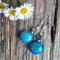Mottled Blue Phoenix Stone, Sterling Silver Earrings