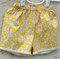 Yellow with White Flowers Long Shorts Girl's Size 5 Ready to post!