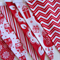 Christmas Bunting - Red and White - Birds and Owls - 3 mtrs