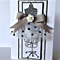 Black white mocha with paper rose mannequin & chiffon card