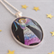Christmas Angel Pendant vintage postage stamp jewellery