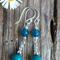 Turquoise & Teal Kunzite Bead Earrings