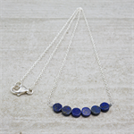 Minimalist Geometric Lapis Lazuli, Sterling Silver Layering Necklace