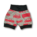 SIZE 0 Red Vehicles Knit Banded Shorties