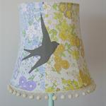Vintage floral lampshade