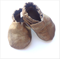 Gold Denim Baby Shoes