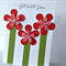 Get well floral red green for you her mum friend sister bestie card