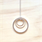 LARGE SIMPLE SILVER CIRCLES THREE CIRCLES PENDANT NECKLACE - FREE SHIPPING WORLD